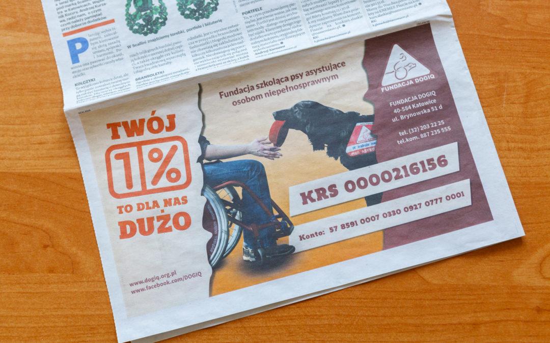 Kampania 1% – Fundacja DogIQ